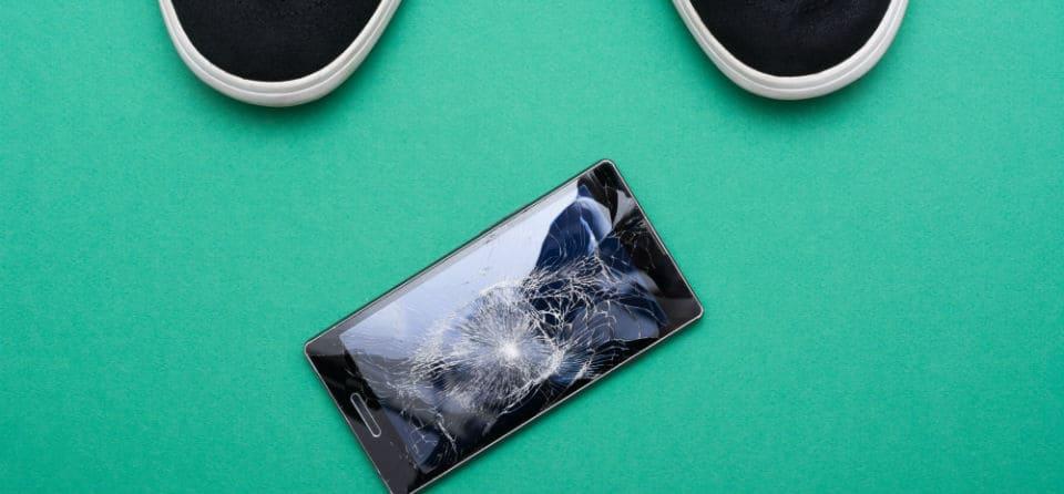 Schade mobieltje